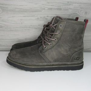 Ugg Men's Harkle Waterproof  Lace Up Boot Charcoal